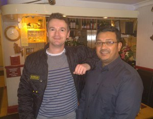 Martin Britton with a colleague