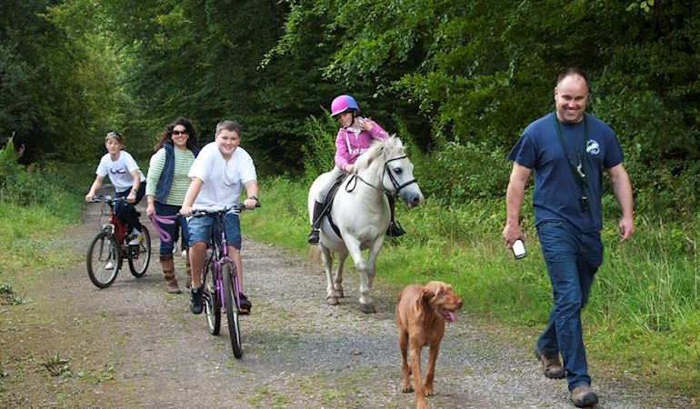 Family enjoying the enjoying the Welsh outdoors