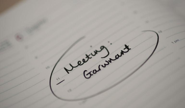 a meeting at Garwnant in a diary