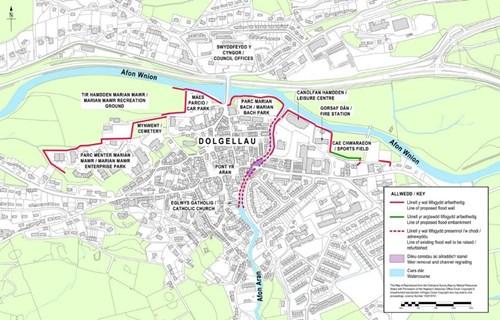 Map of Dolgellau
