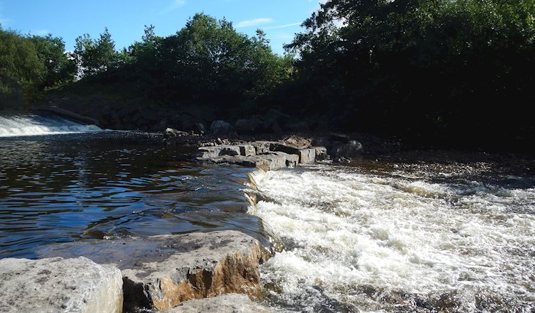 Fish pass on the River Tawe in Panteg