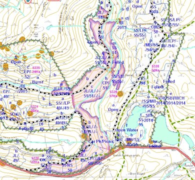 Nant yr Arian Coupe Map