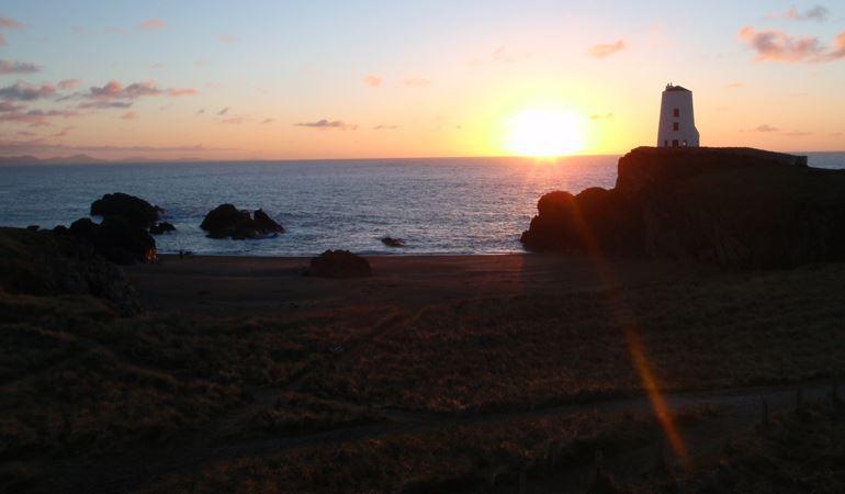 Newborough beach during a sunset