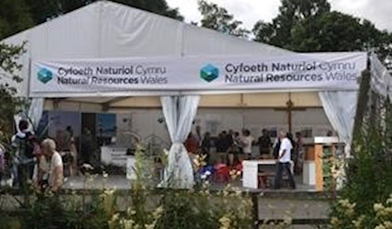 Natural Resources Wales  stand at the Royal Welsh show
