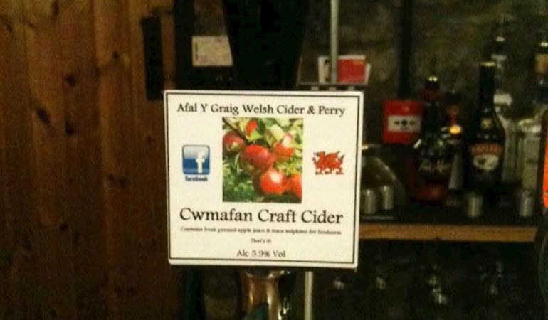 Cwmafan cider pump in a pub