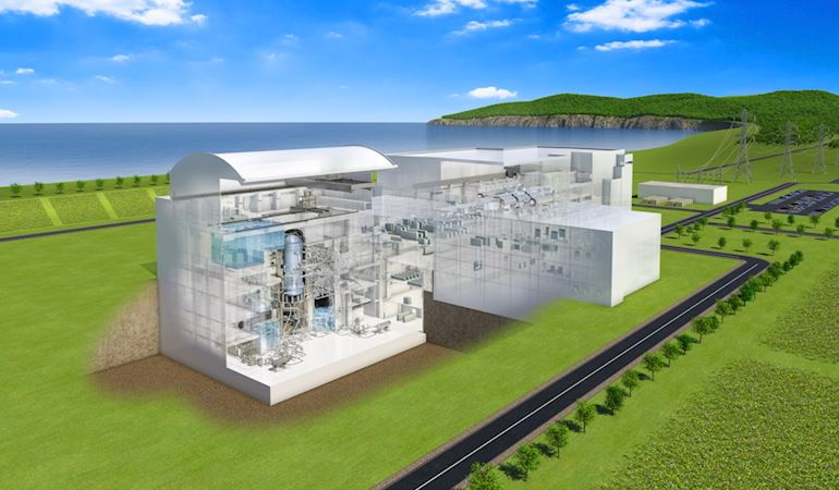 Image of the new nuclear power station design from Hitachi-GE
