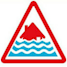 Sever flood warning symbol