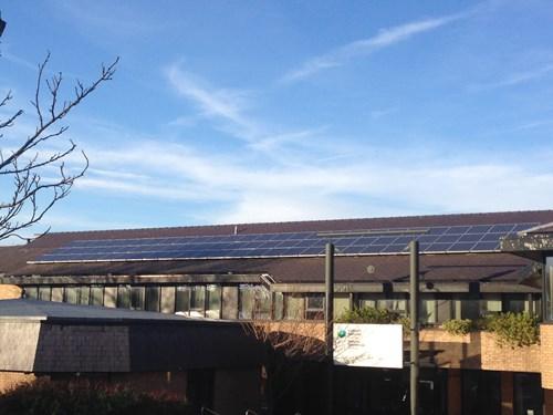 Solar panels on a NRW building