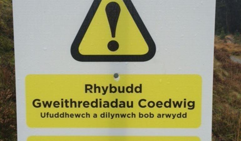 Rhybudd Gweithrediadau Coedwig