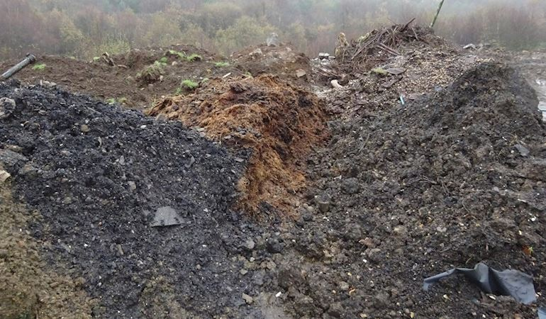 Image of an illegal waste site