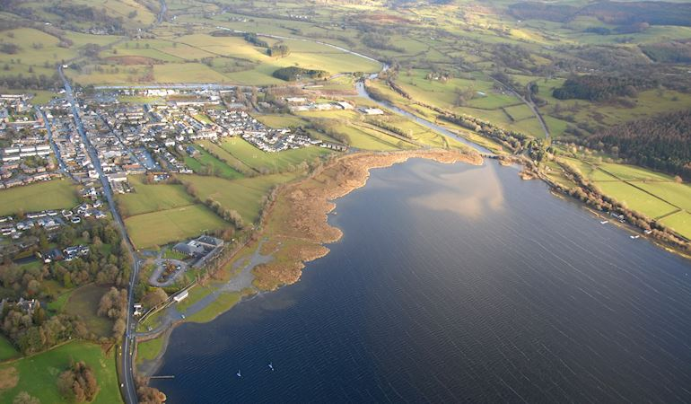 Llyn Tegid from above