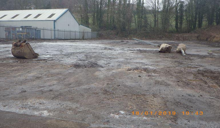 A scrap yard