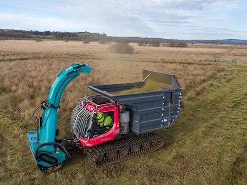 grass cutter on bog