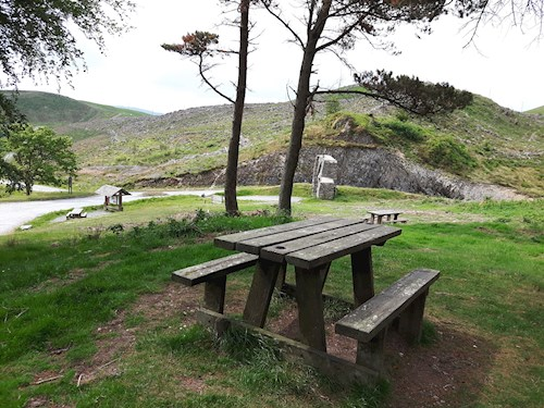 Picnic site near the Arch car park