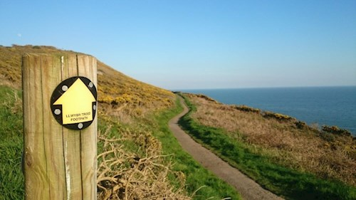 A stretch of the Wales Coastal Path in Swansea
