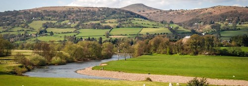 View of the Skirrid from the Usk Valley West of Abergavenny