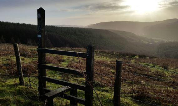Stile Overlooking Cwm Parc