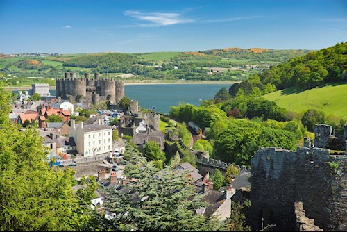 Tourism hub of Conwy Town with its historic Castle.