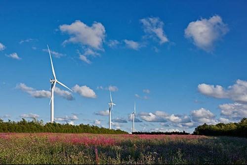Vattenfall's Pen y Cymoedd windfarm on the NRW Managed Estate