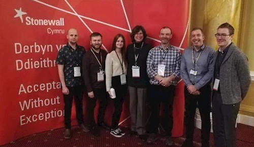 Staff members at Stonewall Workplace Equality Conference in February 2020