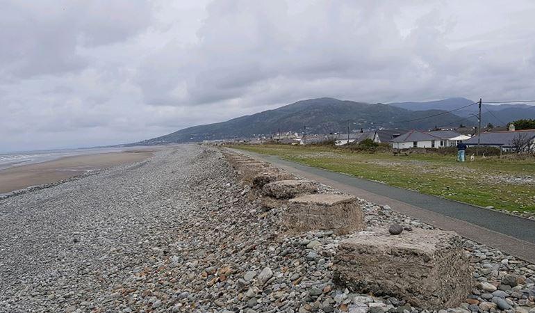 Fairbourne sea front