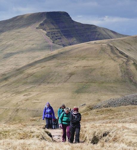 Hikers on Brecon Beacons