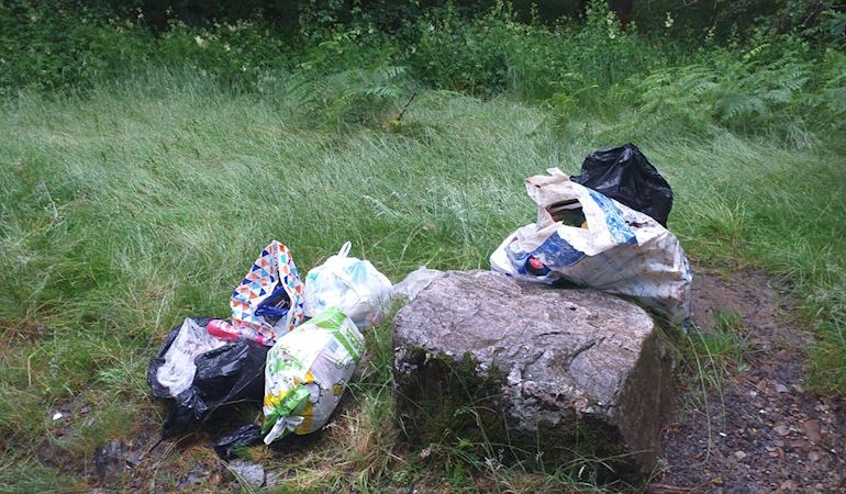 Rubbish left in one of our sites