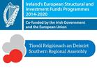 Logo for cofunding from Irish Government and European Union. Logo gydcyllido Llywodraeth Iwerddon a'r Undeb Ewropeaidd