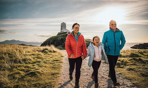 Family on Llanddwyn Island