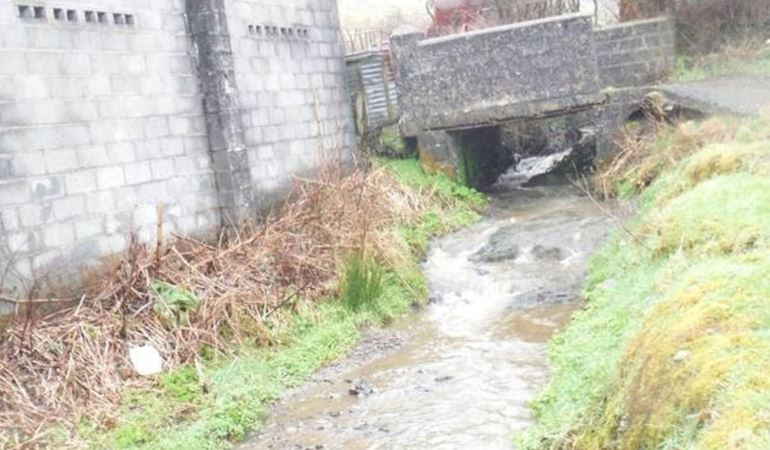 Effluent from Lanfryn on the river