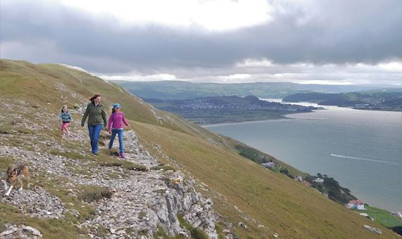 walkers on Great Orme's Head. Picture by Stuart Smith