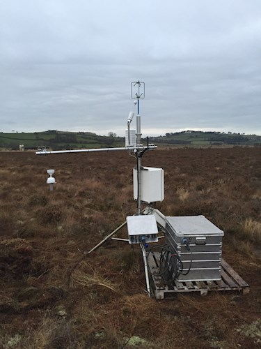 Flux Tower at Cors Caron NNR (Photograph credit Alex Cumming UKCEH)