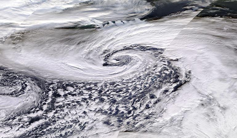 Storm Dennis Satellite image