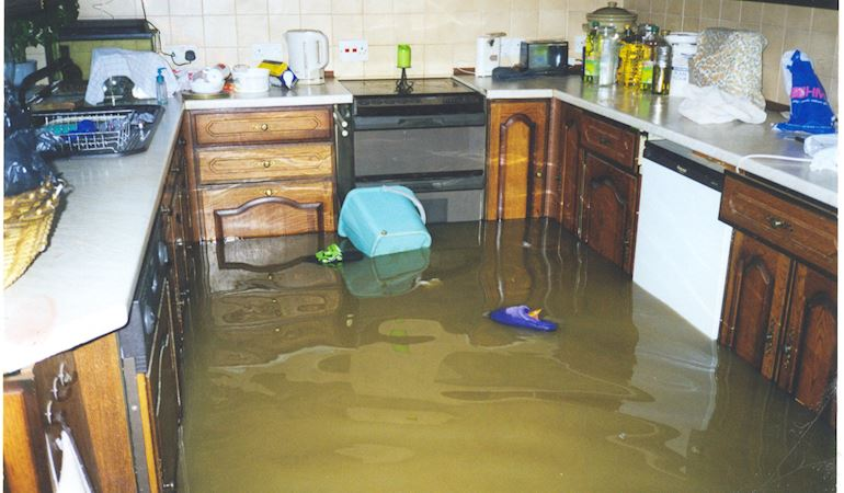 Picture of kitchen flooded during December storms