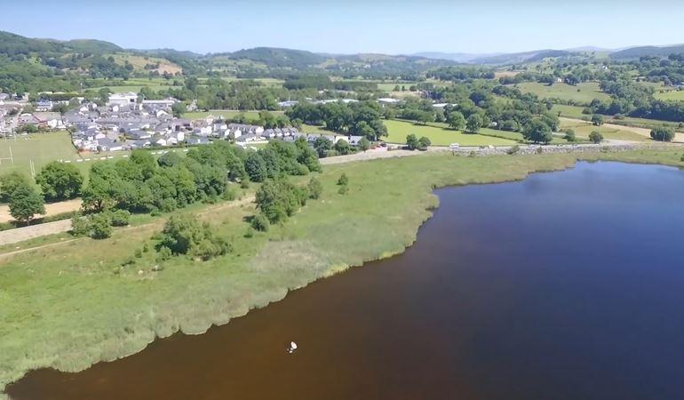 Drone image of Llyn Tegid