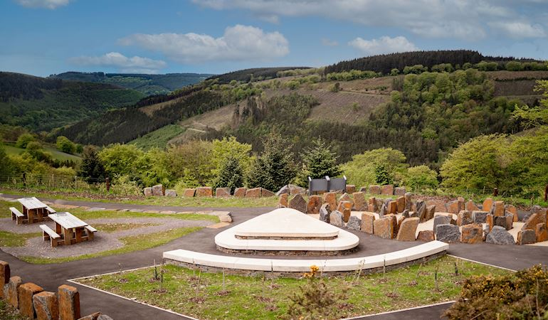 Picnic benches at Cwmcarn