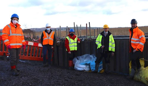 Image of stakeholder visit to the crash site